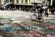 In light of recent events, Brussel's residents paint the city with positive messages