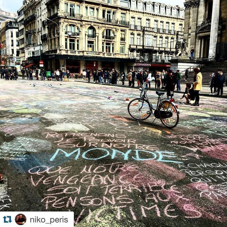 Photo of In light of recent events, Brussel's residents paint the city with positive messages